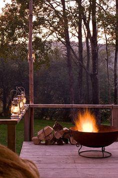 Lanterns & outdoor fire