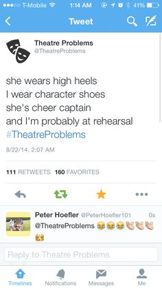 So true! I have practice for my theater class every Saturday most of the day. When girls are going to the movies and mall