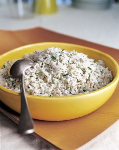 Barefoot Contessa's Herbed Basmati Rice. I add lime juice and garlic powder. So absolutely wonderful!