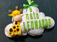 "Fiocco Nascita ""Nuvoletta"" #birth #ribbon #felt #handmade #itsaboy"