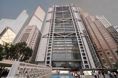 HSBC in the middle (44 floors, completion in 1985), Central, Hong Kong Island