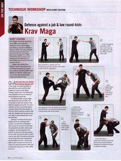 Krav Maga Kicks   ... , Blitz Magazine July 2012, Defence against a jab & low round kick