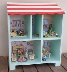 This is not a DIY, but it is totally an inspiration for such a DIY doll house