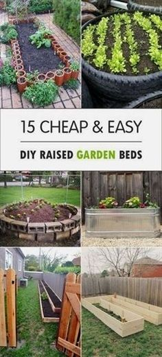 Here are some great DIY Raised Garden Beds for vegetables and other crops, that you can make for your backyard. #GardeningIdeas