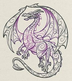 Dragon - print it and color