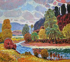 """#InMemroiam Гаврило Глюк (19 травня 1912 - 2 листопада 1983) — український живописець """"Рання тепла осінь"""", 1978"""