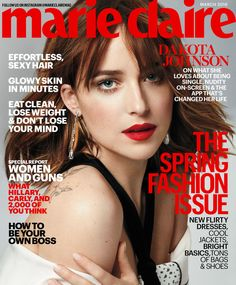 Dakota Johnson in Proenza Schouler Spring 2016 on the March 2016 Cover of Marie Claire Magazine Dakota Johnson, Kristen Stewart, Marie Claire Magazine, Free Magazine Subscriptions, Best Fashion Magazines, How To Be Single, Spring Breakers, Lose Your Mind, Elizabeth Banks