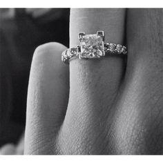 Diamond princess cut ring.