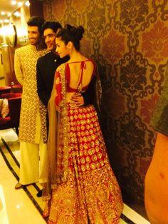 Aliya bhatt in gorgeous red lehnga by manish malhotra!!
