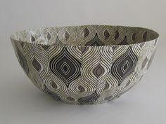 Black Decorative Bowls Modern Bowl  Decorative Bowl  Art Bowl  African Bowl  Zebra