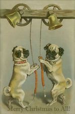 Victorian Pug Bell Ringers ~  Christmas Cards