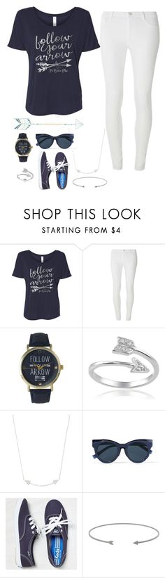 """#arrows #contest"" by queenebitsam ❤ liked on Polyvore featuring Dorothy Perkins, Olivia Pratt, Journee Collection, Karma Jewels, self-portrait, Keds, contest, white, like4like and navyblue"