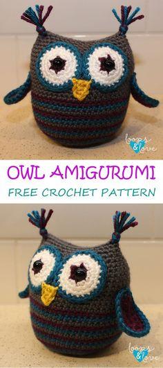 Cute little owl amigurumi! Free crochet pattern!