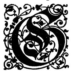 Free High Resolution Printable Vintage Initial Capital Letter 'G' Letter G, Initial Letters, Initial Capital, Printable Vintage, Monograms, Initials, Free, Monogram