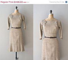 25 OFF SALE.... Emmer Wheat dress / vintage 19050s by DearGolden, $103.50