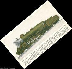 tr095 1934 World's Fair PRESIDENT CLEVELAND B&O LOCO #5320 B&O TRAIN POSTCARD