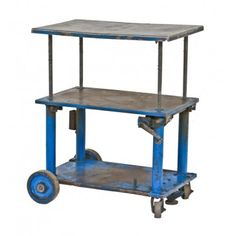 """all original late 1940's american industrial fully functional iron and steel hand-crank die cart manufactured by hamilton tool co., hamilton, oh. the portable elevating table or """"portelvator"""" was designed and patented by oscar schilchter in 1933. #urbanremains #industrial #factory #vintage #repurposed #chicago"""