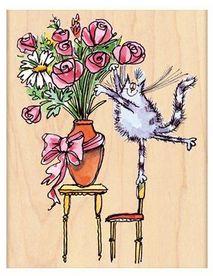 Furry Florist - Penny Black - Holz Stempel