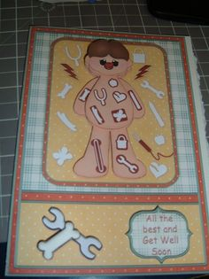 Speedy Recovery Get Well Soon Card Front &amp Decoupage by Marianne Kowalchuk