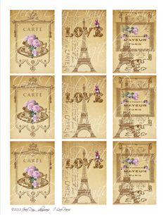 Digital Download French Eiffel Tower I Love Paris  by jdayminis, $3.50