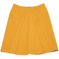Pre-owned Roland Mouret Mid-Length Skirt (505 BRL) ❤ liked on Polyvore featuring skirts, orange, long yellow skirt, yellow maxi skirt, orange skirts, yellow skirt and mid length skirts