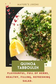 Quick Dinner Recipes, Healthy Salad Recipes, Vegetarian Recipes, Healthy Food, Healthy Eating, Best Salads Ever, Quinoa Tabbouleh, Light Recipes, Vegetable Dishes