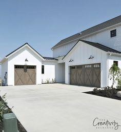 Modern Farmhouse Exterior Garage.