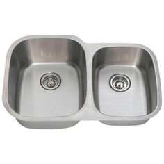 Polaris Sinks Undermount Stainless Steel 32 in. Double Bowl Kitchen Sink - PL305-18 - The Home Depot