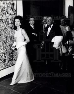 1966 Press Photo Jackie Kennedy at Whitney museum | eBay