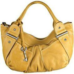 yellow fossil handbag