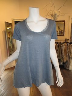 Jaci Tee with Silk Back in Fad Blue by CP Shades | SaVvy | Retail Therapy