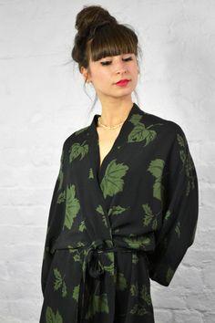 Samsoe & Samsoe Alrik Forest Leaf Dress | The Mercantile London