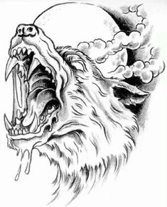 Hot Sale Men's Waterproof Temporary Tattoo Sticker Body Art with Violent Wolf Head Pattern Tattoo Sketches, Tattoo Drawings, Art Sketches, Art Drawings, Drawing Art, Werewolf Tattoo, Werewolf Art, 1 Tattoo, Dark Tattoo