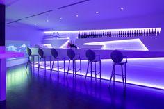 KRION® Blog – Porcelanosa Solid Surface » Diseño by U Design en Discoteca MASK, KRION® translucido