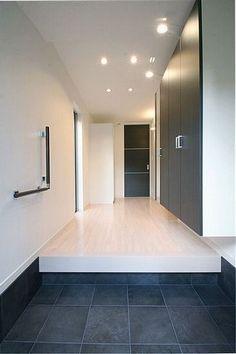 Modern Entrance, Entrance Foyer, Entrance Design, House Entrance, Minimalist House Design, Minimalist Interior, Minimalist Home, Modern Interior, Fusion Design