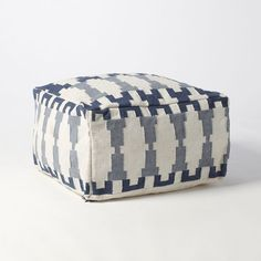 bliss blog - i heart monday:: KEW DHURRIE POUF from West Elm