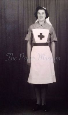 Vintage Photo British Red Cross Nurse Uniform 1940s English Woman Health
