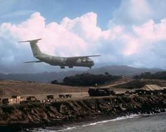 US army lands materials in Grenada as a part of their invasion in 1983