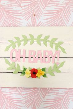 When you get right down to it, there are very few things that a Cricut Explore Rose Machine WON'T do! If you can think it up, there's a good chance you can craft it up with the Cricut. Creative Design, My Design, Simple Baby Shower, Baby Shower Decorations, Easy Diy, Crafty, Cricut Explore, Diy Baby, Rose