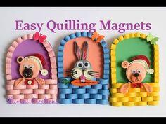 Quilling Fridge Magnet/ How to make Fridge Magnets - YouTube