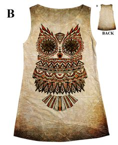 woman Owl allover print top t shirt and tank33 by hellominky