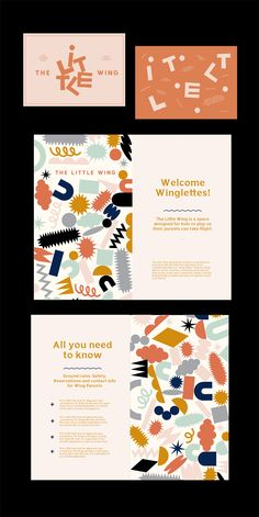 a vibrant and colorful brand stationery and quirky, playful branding. Collateral Design, Brand Identity Design, Graphic Design Branding, Corporate Design, Brochure Design, Kids Graphic Design, Business Design, Tag Design, Cover Design