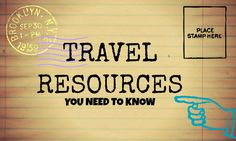 The best travel resources you need to know about - Travel Resources to help you book travel easier, faster, and stress free!
