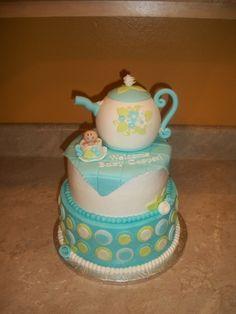 Teapot Baby Shower Boy By cakesbykayla on CakeCentral.com