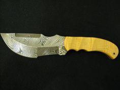 Handmade Custom Damascus Hunting knife Survival knife by EEKnives, $110.00
