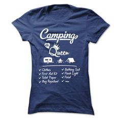 #tshirts... Awesome T-shirts  Camping Queen . (Cua-Tshirts)  Design Description: Camping Queen, Camping Girl, Camping, Camp,  If you don't completely love this design, you'll SEARCH your favorite one by way of using search bar on the header....