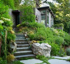 Feldman Architecture, Mill Valley Cabins in San Francisco Feldman Architecture, Mill Valley Cabins in San Francisco Garden Stairs, Garden Bridge, Garden Gates, San Francisco, Stone Stairs, Guest Cabin, Outdoor Stone, Stairway To Heaven, In The Tree