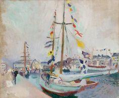 Raoul Dufy, Le Yacht pavoisé au Havre, 1904, huile sur toile, 67,3 x 79,5 cm. Le Havre MuMa, musée d'Art moderne André Malraux - © Florian Kleinefenn