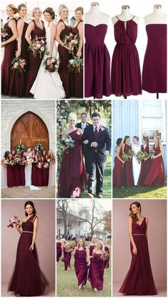 Burgundy/Marsala/Cabernet bridesmaid dresses. | Autumn Magic ...