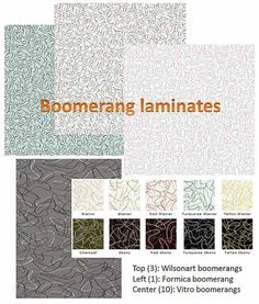 Retro Boomerang Laminate Countertops ~ 3 Styles, 14 Colors Available  Today!! I Have